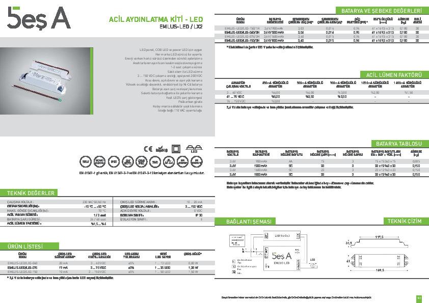 Beş A Ürün Kataloğu EMLUS-LED LX2