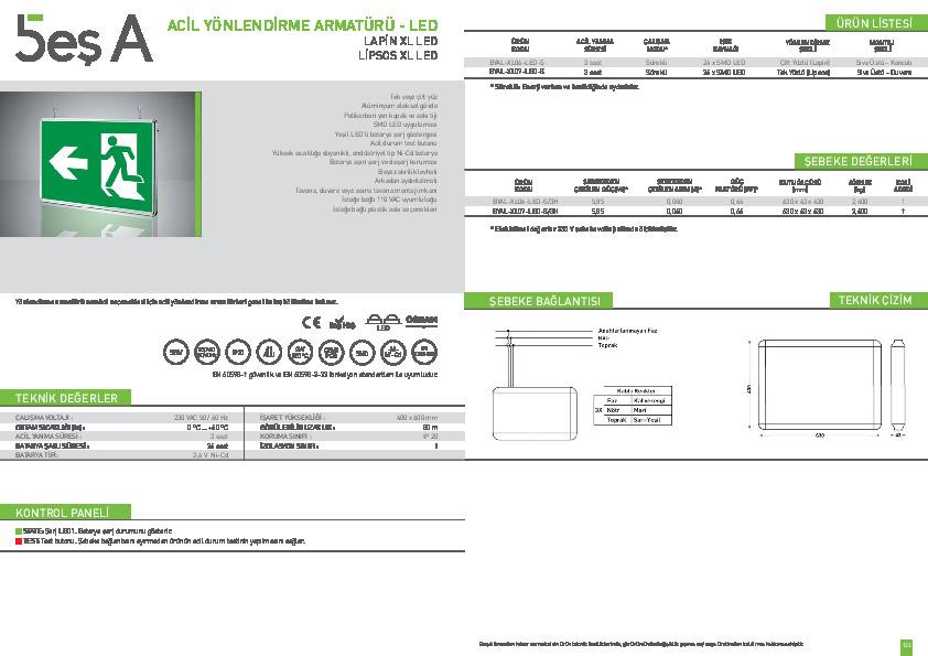 Beş A Ürün Kataloğu LAPİN LİPSOS XL LED