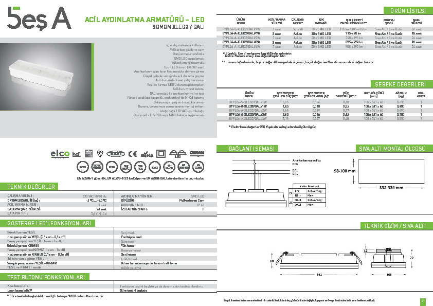 Beş A Ürün Kataloğu SOMON XLED2 (DALI)