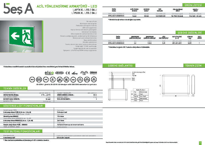 Beş A Ürün Kataloğu LAPİN & LİPSOS XL LED DALI